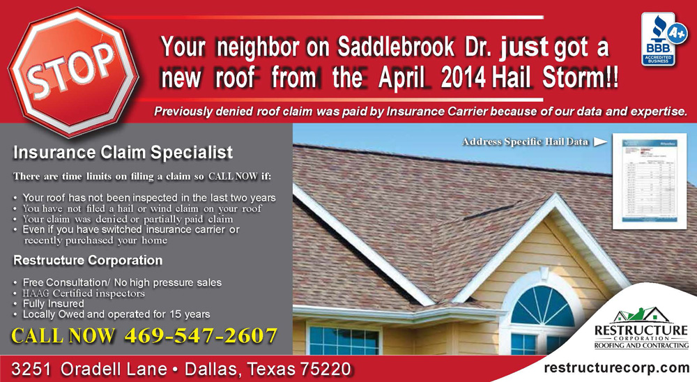 Roof Damage in Allen, Texas